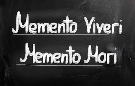 Memento Viveri Memento Mori Concept photo