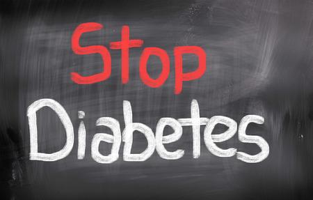 Stop Diabetes Concept photo
