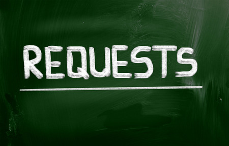 requests: Requests Concept Stock Photo