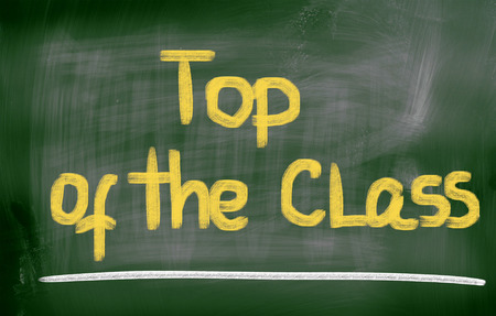 top class: Top Of The Class Concept Stock Photo
