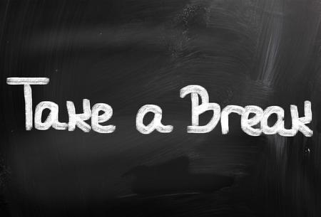Take A Break Concept photo