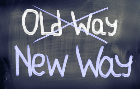 Old Way New Way Concept photo