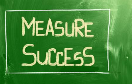accomplishes: Measure Success Concept Stock Photo