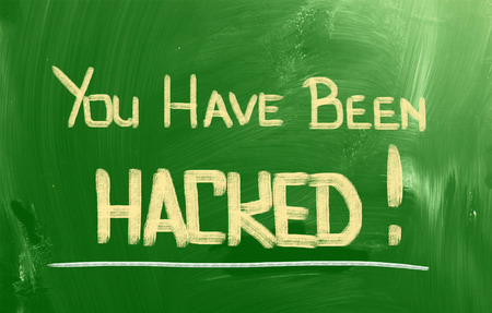You Have Been Hacked Concept Stock Photo - 28232798