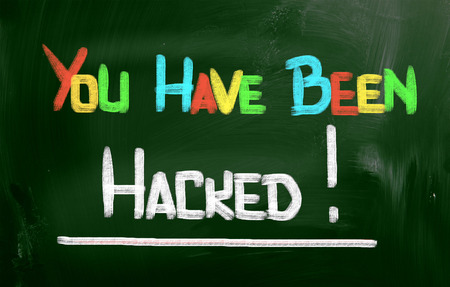 You Have Been Hacked Concept Stock Photo - 28231183