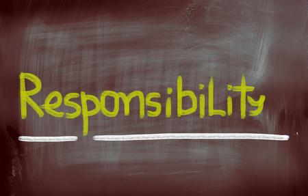 accountable: Responsibility Concept Stock Photo