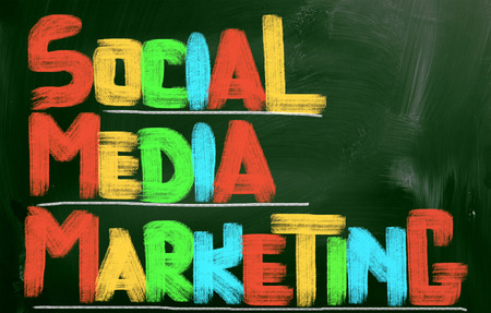 bookmarking: Social Media Marketing Concept Stock Photo