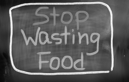 Stop Wasting Food words photo