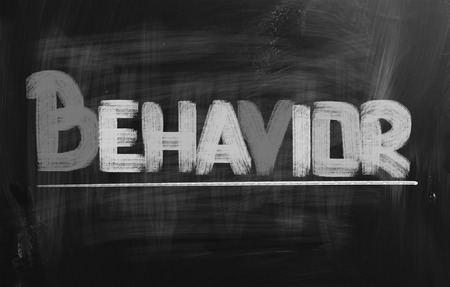 Behavior word photo