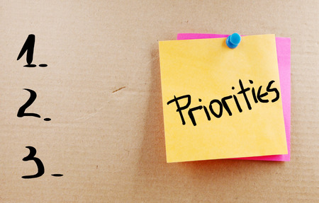 優先順位の単語