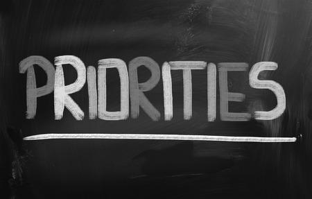 priorities: Priorities word