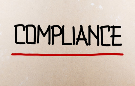 deference: Compliance word Stock Photo