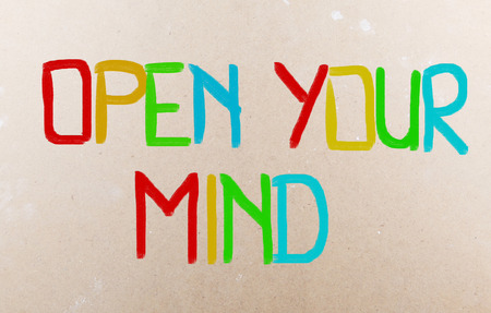 receptive: Open Your Mind words Stock Photo
