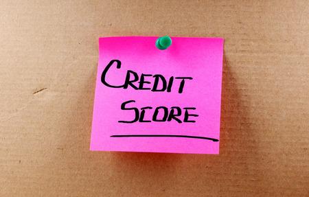 Credit Score Concept photo