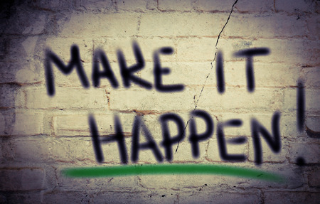 jargon: Make It Happen Concept
