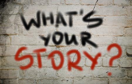 Cuál es su concepto de historia Foto de archivo - 28831188