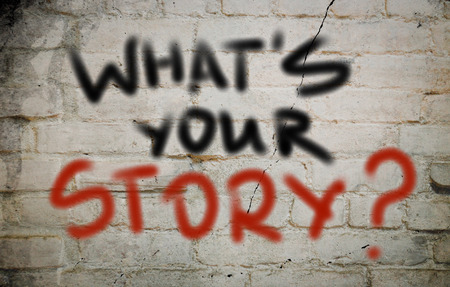 Whats Your Story Concept Stock Photo