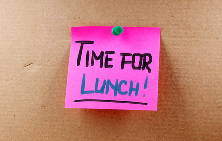 take time out: Time For Lunch Concept Stock Photo