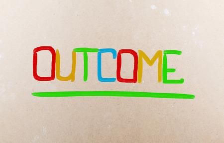 consequence: Outcome Concept