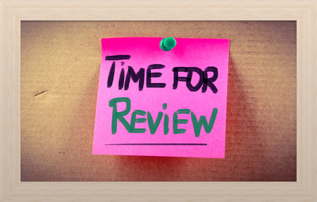 reassessment: Time For Review Concept Stock Photo