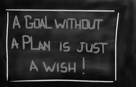 A Goal Without A Plan Is Just A Wish Concept photo