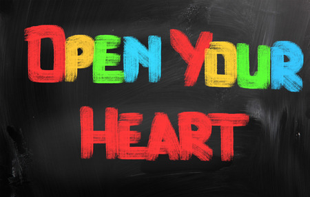 open your heart: Open Your Heart Concept Stock Photo