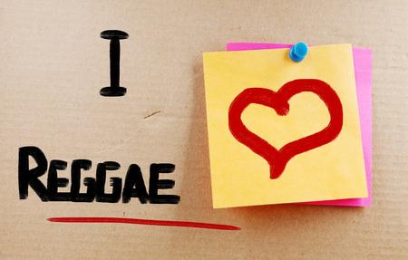 I Love Reggae Concept photo