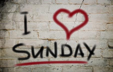 I Love Sunday Concept