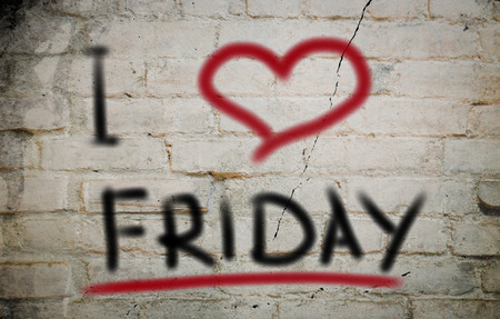 I Love Friday Concept Stock Photo
