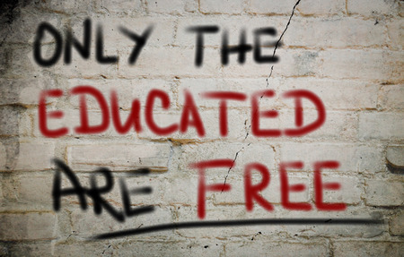 educated: Only The Educated Are Free Concept