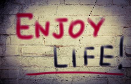 enjoy life: Enjoy Life Concept Archivio Fotografico