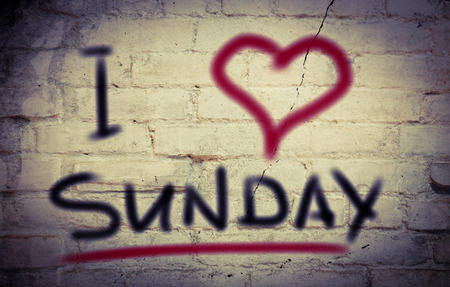 I Love Sunday Concept photo
