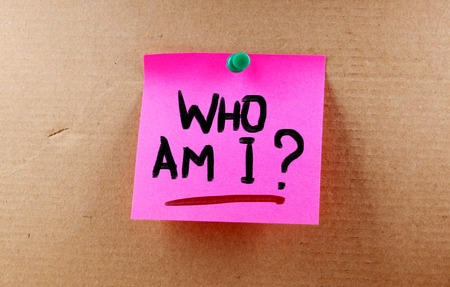 am: Who Am I Concept Stock Photo