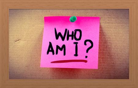 Who Am I Concept Stock Photo