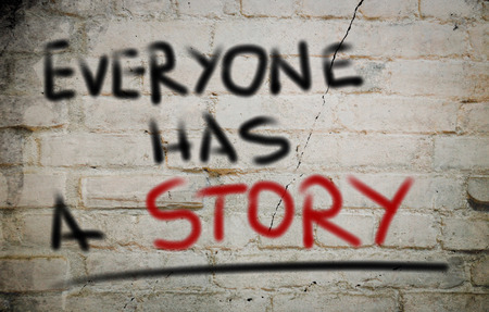 Everyone Has A Story Concept Stock Photo