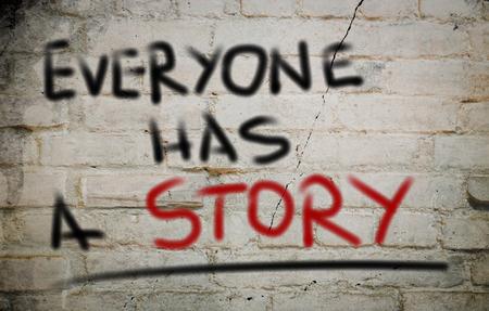 Todos tienen un concepto de historia Foto de archivo