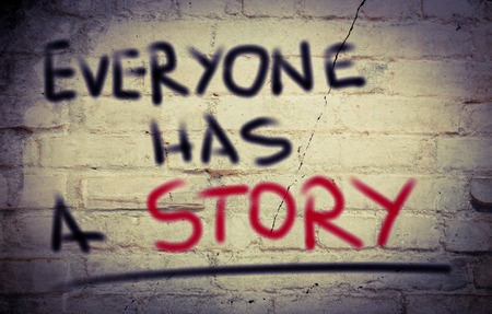 everyone: Everyone Has A Story Concept Stock Photo