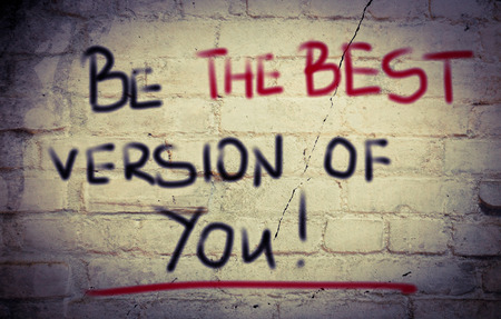 accomplish: Be The Best Version Of You Concept