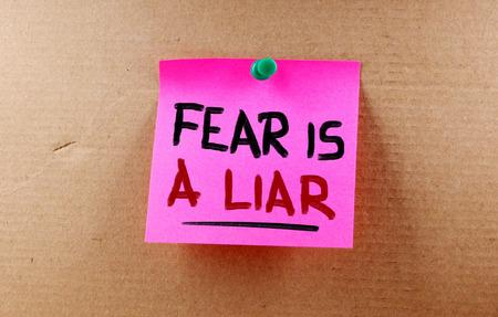 affraid: Fear Is A Liar Concept Stock Photo