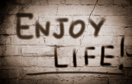 enjoy life: Enjoy Life Concetto Archivio Fotografico