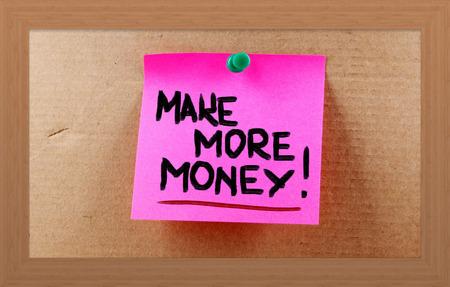 Make More Money Concept photo