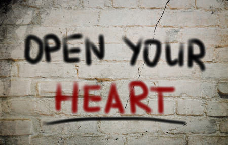 receptive: Open Your Heart Concept Stock Photo