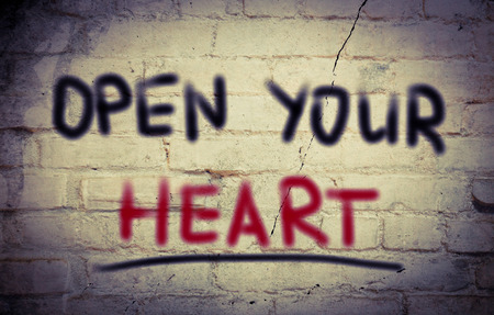 receptive: Open Your Heart Concept Stock Photo