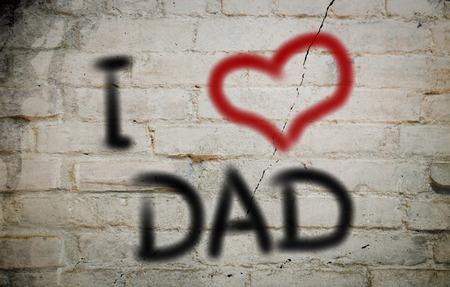 I Love Dad Concept photo