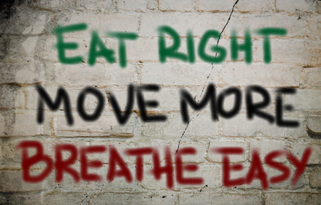 breathe easy: Eat Right Move More Breathe Easy Concept