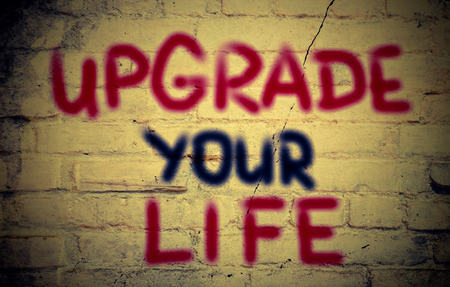 life extension: Upgrade Your Life Concept Stock Photo
