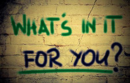 ego�sta: �Qu� hay en �l para usted Concept