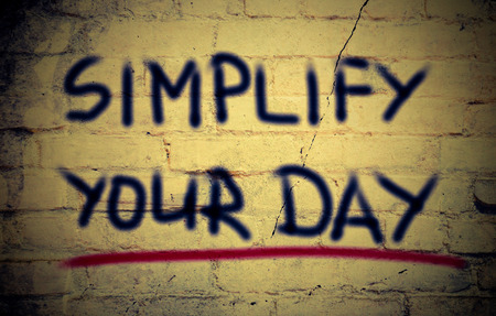 simplify: Simplify Your Day Concept Stock Photo