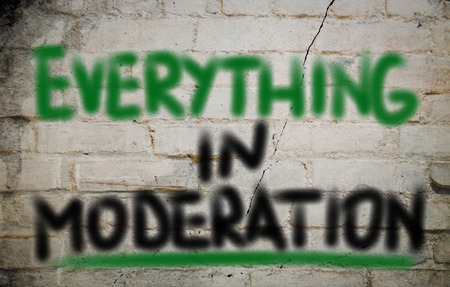 social behaviour: Everything in Moderation Concept