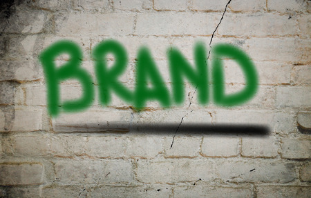 branded product: Brand Concept Stock Photo